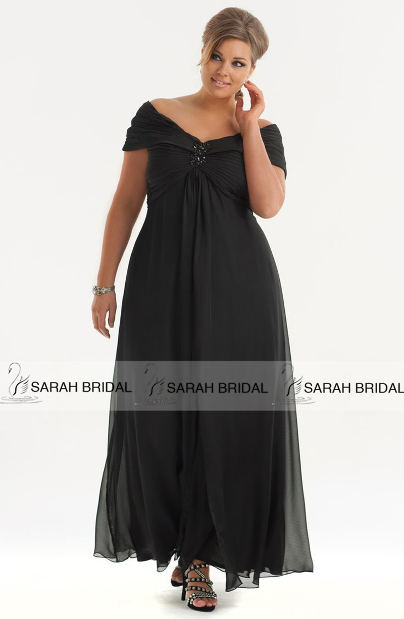 Dresses mother of bride picture more detailed picture for Plus size black dresses for weddings