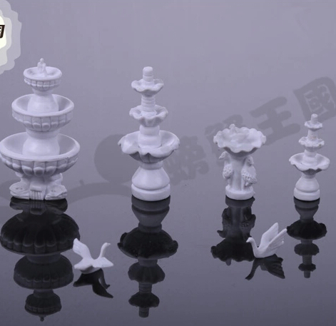 diy construction sand table model material fountain sculpture set 6pcs/sets (10-60mm)(China (Mainland))