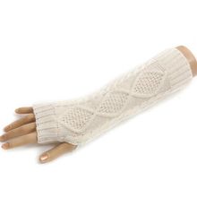 8 Colors Winter Warm Women Ladies Solid Gloves Arm Warmer Long Fingerless Knit Mitten Long Gloves Wrist Cover Arm Cover(China (Mainland))