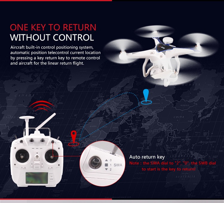 Free shipping Cheerson CX-22 RC Drones 6-axis 5.8G remote control Quadcopter VS CX-20 Syma X8G X8W X8C Dji Phantom 3 phantom 4