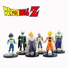 Dragon Ball Z Action Figures Cell/Goku/Vegeta PVC Figures Toys Best Gift Collection 6pcs/set ADB020