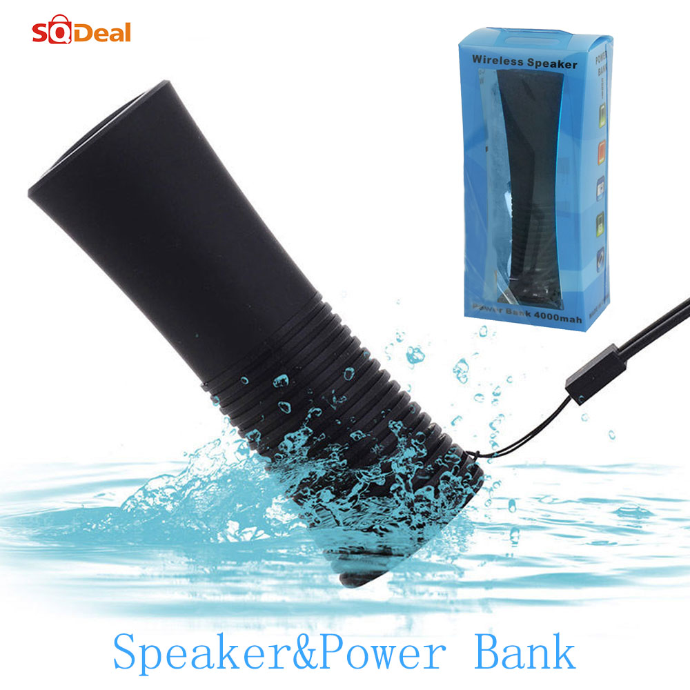 High Quality Fashion Bluetooth Speaker Portable Wireless Handsfree Waterproof Speakers Built in Power Bank 5800 for iphone 5 5s(China (Mainland))