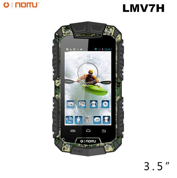 Original New OINOM LMV7H IP67 rugged Waterproof phone MTK6572 Dual Core Android Gorilla glass 3G GPS 3600mAH PTT 2.0MP(China (Mainland))