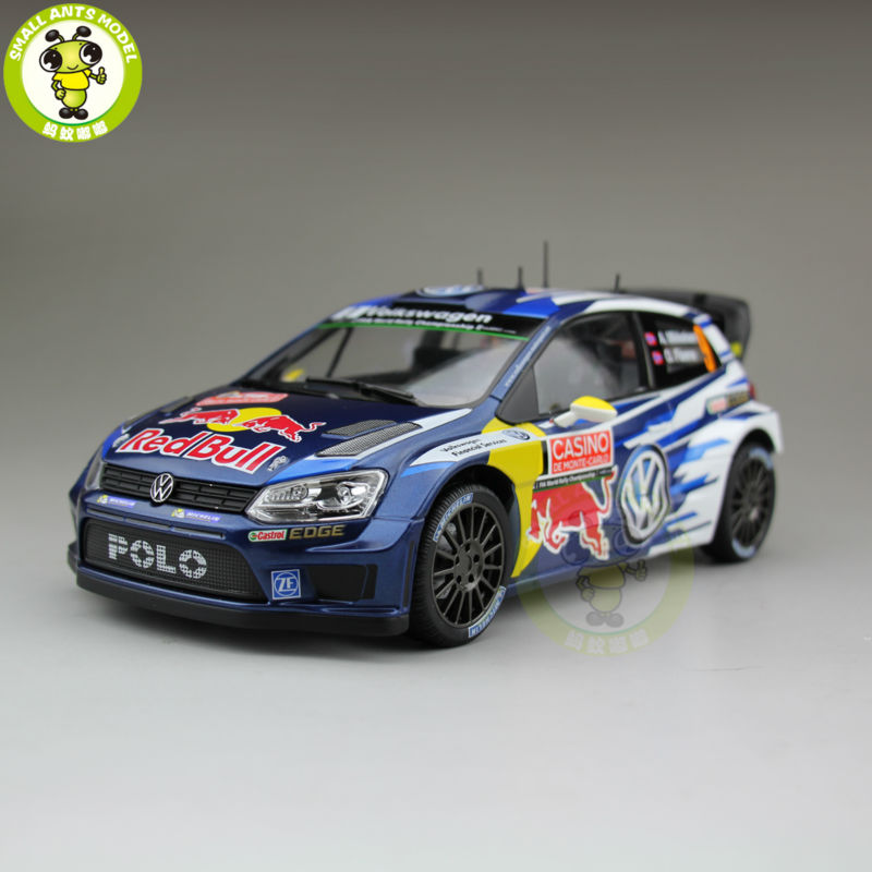 "1:18 Norev VW Volkswagen POLO R WRC 2015 #9 ""RED BULL"" Diecast Mannequin Automotive"