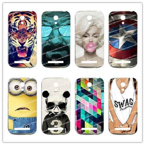 16 Patterns Hot Selling Fashion Case For Fly IQ 4404 Case Cover For Fly IQ4404 Cover+Stylus Gift(China (Mainland))