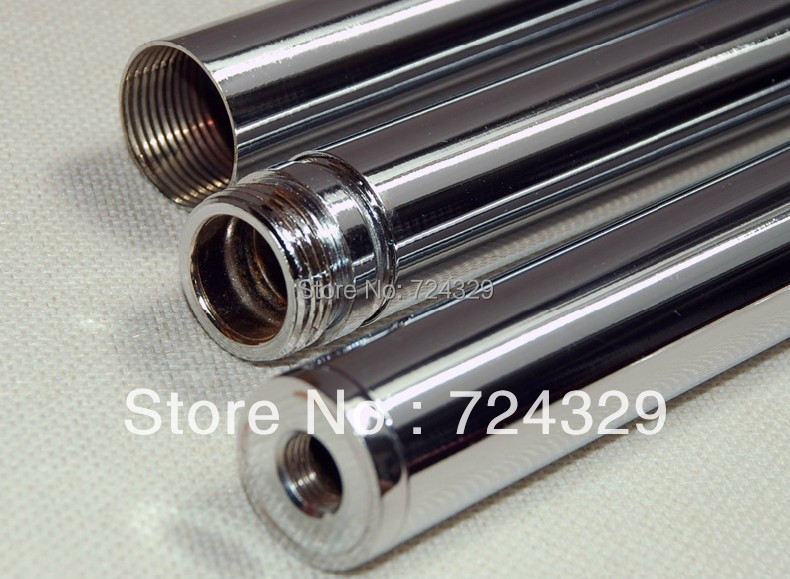 1 pc 25MM alloy stainless steel metal tube rod floor lamp connecting tube with female connector rack screw tube free shipping<br><br>Aliexpress