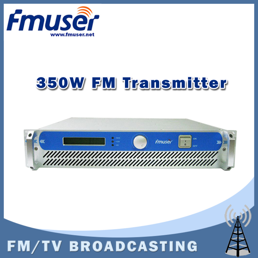Free shipping FMUSER FSN-350 350W 2U Professional FM Broadcast Radio Transmitter Exciter(China (Mainland))