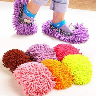 NEW DESIGN ONLY 100 PAIRS House Slippers Lazy Shoes Cover Dust House Bathroom Floor Cleaning Mop Cleaner 1Pair=2pieces MS01(China (Mainland))