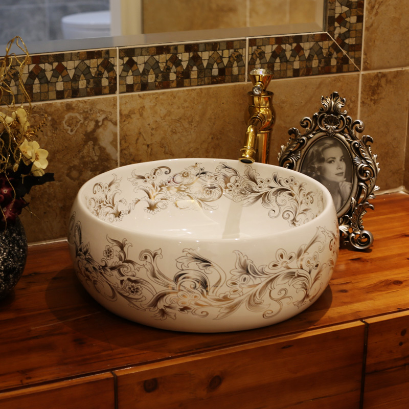 China Artistic Handmade Counter Top Basin Sink Handmade