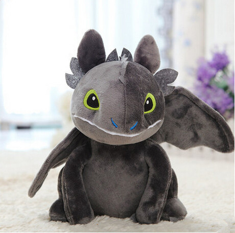 Free Shipping Anime Movies & TV How to Train Your Dragon Stuffed Animals Toys 20CM Black Dragon Plush Toys Baby Toys On Sale(China (Mainland))