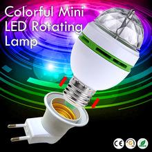 Buy 2017 NEW Colorful Auto Rotating lampada 85-260V Bulb Stage Light Party Lamp Disco MIni RGB LED Nightlight EU plug E27 3W for $3.12 in AliExpress store