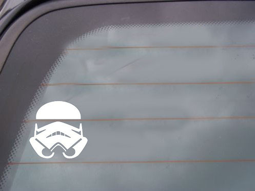 STORMTROOPER - Star Wars - Car, Truck, Notebook, Vinyl Decal Stickers For Cars Vinyl Color: White Black Red(China (Mainland))