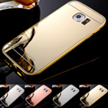 Phone Case for Samsung Galaxy S6 Edge Luxury Metal frame and Mirror Acrylic Back Cover Mobile