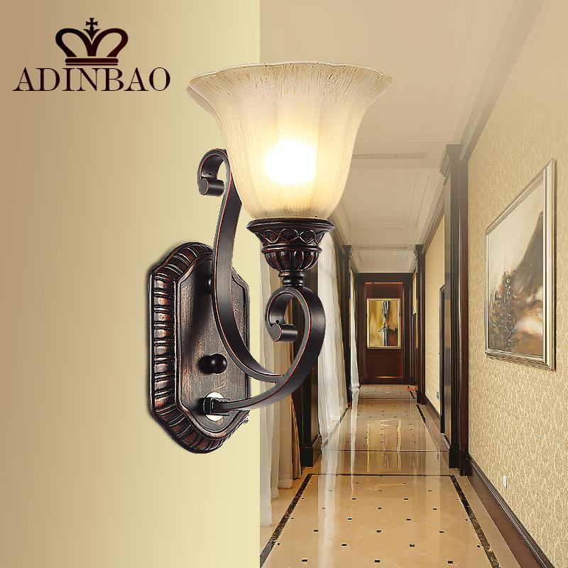 Rustic Iron Wall Sconce Corridor Led Wall Light Outdoor Indoor Wall Lamp WL002-1(China (Mainland))