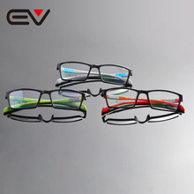 2016 New Fashion Unisex Men Women Ultra Light TR90 Frame Clear Lens Optical Eyeglasses Frames Oculos de gray EV1322 - EV Frame&Sunglasses Manufacturer store