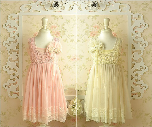 2-6T New Kids Clothes Summer Style Pearl Brooch Sweet Flower Dress 5pcs/lot Wholesale Free Shipping<br><br>Aliexpress