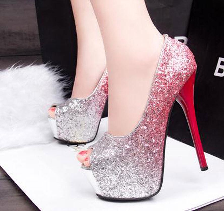Big Size 34-39 New 2015 Fashion Red Bottom Platform Lady Sexy Ultra High Heels Wedding Shoes Woman Dress Shoes Women Pumps(China (Mainland))