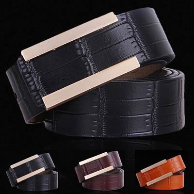 (flowers-belt 66) Men genuine crocodile leather belts,brown crocodile belt, bamboo joint leather belts for men(China (Mainland))