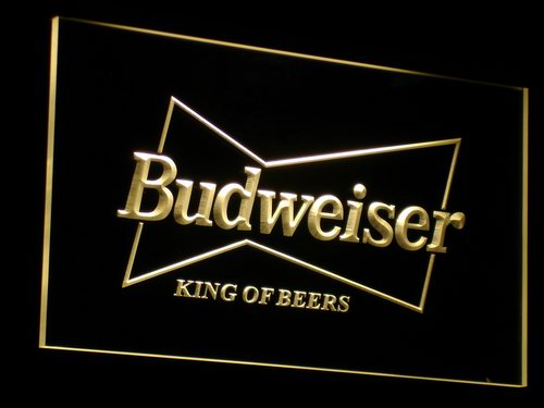 a009 Budweiser King Beer Bar Pub Club LED Neon Sign with On/Off Switch 7 Colors to choose