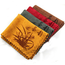 4 Color Available Newcoming 38*28CM Tea Towel Ultrastrong Water Absorption Towel for Kungfu Set Tea(China (Mainland))