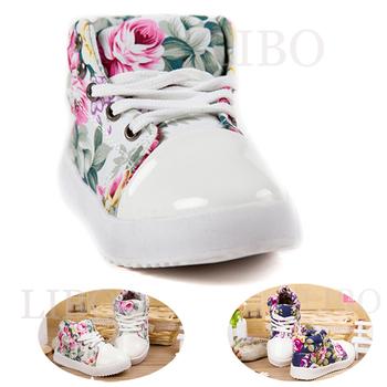 Обувь с корейскими цветкаи Мягкие тапки из холста для принцессы 2014 весная осеняя новинка для девушки Детская обувь из хлопка Туфли свободного покроя