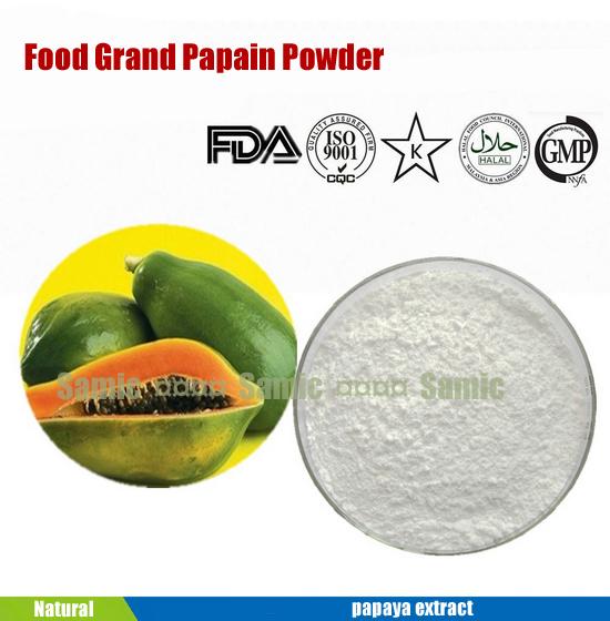 papaya leaves extract as meat tender
