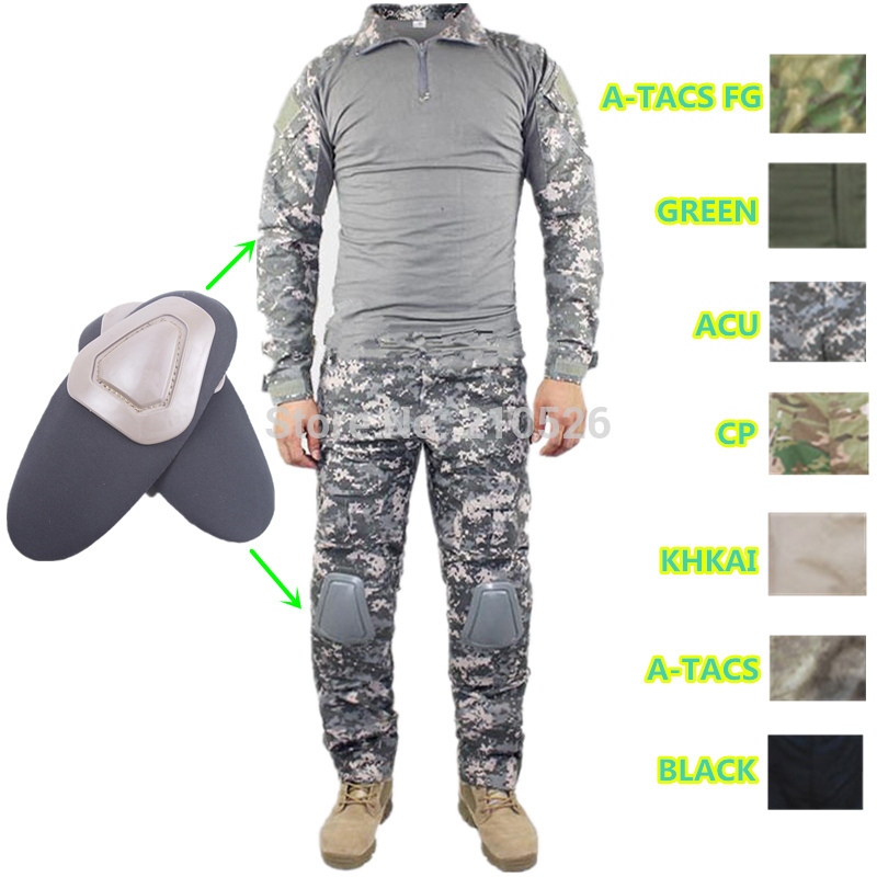 Tactical cargo pants with knee pads camo military uniform clothing combat trousers suit camouflage training us army militaryОдежда и ак�е��уары<br><br><br>Aliexpress