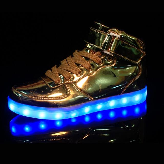 2016 новые высокого верха из светодиодов обувь женщины и мужчины мода , шлепанцы ...