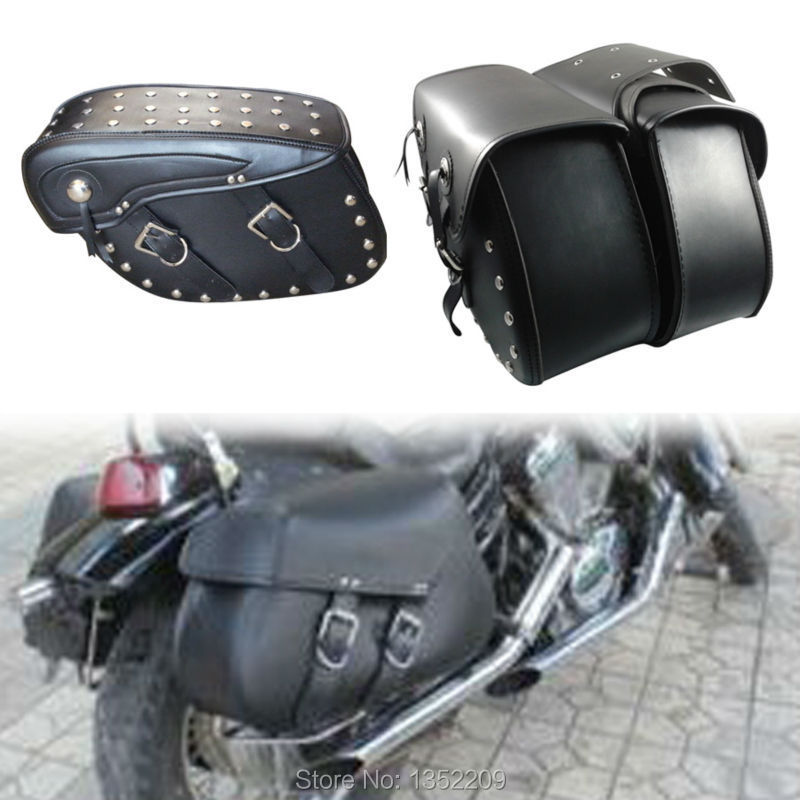 Motorcycle Pu Leather Motorbike Luggage Bags Motorcycle Panniers Saddle Bags For Harley(China (Mainland))