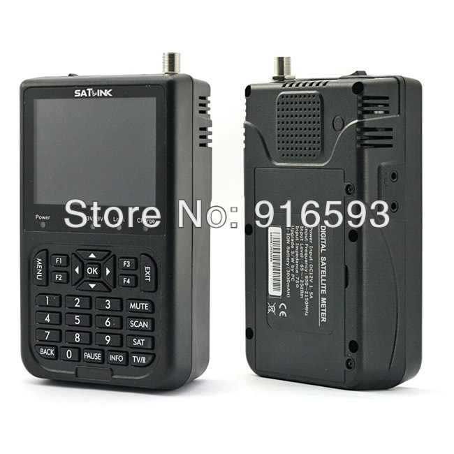 5pcs/ Lot SATLINK WS-6906 DVB-S FTA digital satellite signal finder meter Live FTA Digital Picture and Sound WS 6906(China (Mainland))