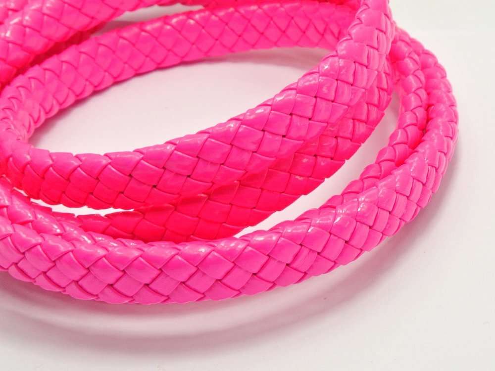 15M Neon Hot-pink Flat Braided Bolo Synthetic Leather Cord 10X4mm craft decorative rope accessories bead roll hand tablet DIY(China (Mainland))