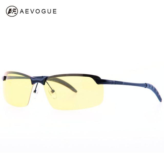Aevogue бесплатная доставка бренд солнцезащитных очков мужчин поляризованные желтые линзы многоцветный поляроид полуободковые солнцезащитные очки UV400 AE0139