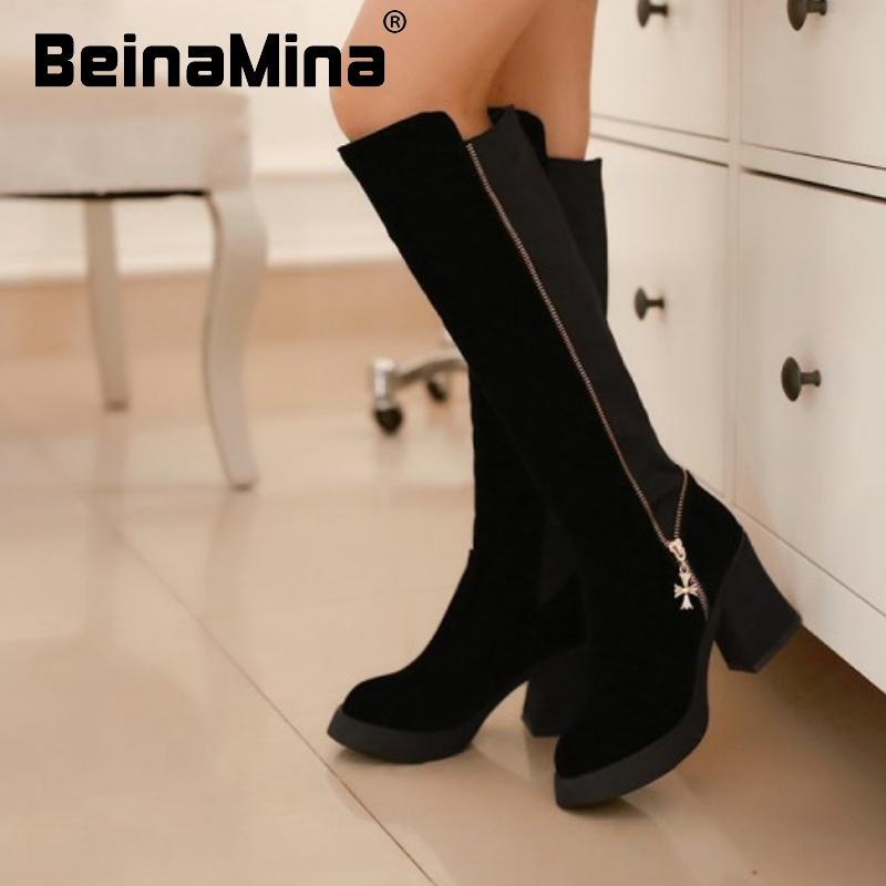 women high heel over knee boots platform fashion snow long boot warm winter brand botas footwear heels shoes P20101 size 34-39<br><br>Aliexpress