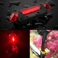 2016 Portable USB Rechargeable Cycling Bike Bicycle Tail Rear Safety Warning Light Red Lamp Super Bright(China (Mainland))