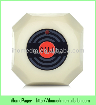 Service Paging System single call button CE FCC Certificate,with removable waterproof base,