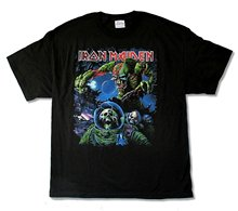 Hot New 2017 Summer Fashion Great Discount Cotton Men Tee Iron Maiden Final Frontier Tour 2010 Album Cover Mens Black T Shirt(China (Mainland))