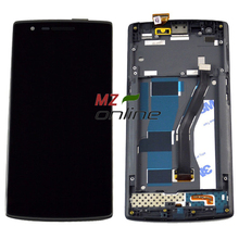 OEM Touch Screen Display Oneplus one LCD Digitizer Front Frame Assembly Replacement Black - MZ Online Store store