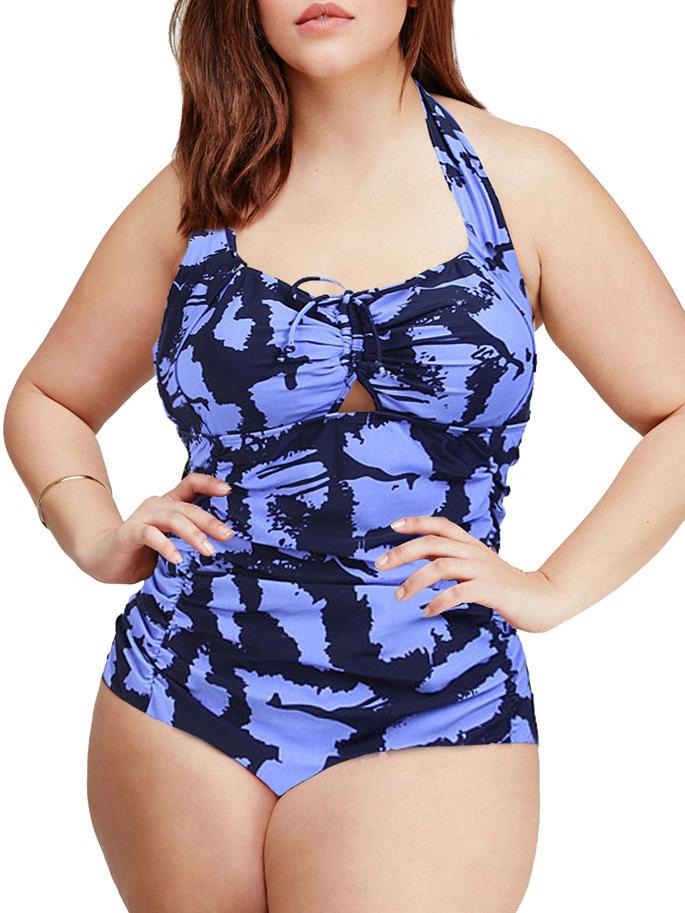 xxxl 4xl 5xl Floral high waist one piece push up swim suits plus size swimwear for women sexy swim wear body shaping swimsuits(China (Mainland))