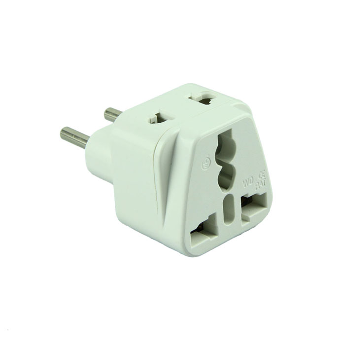 Essential Free Shipping Universal 2 in 1 Plug Adapter Travel Adapter Type C for Europe, Turkey and More, High Quality(China (Mainland))