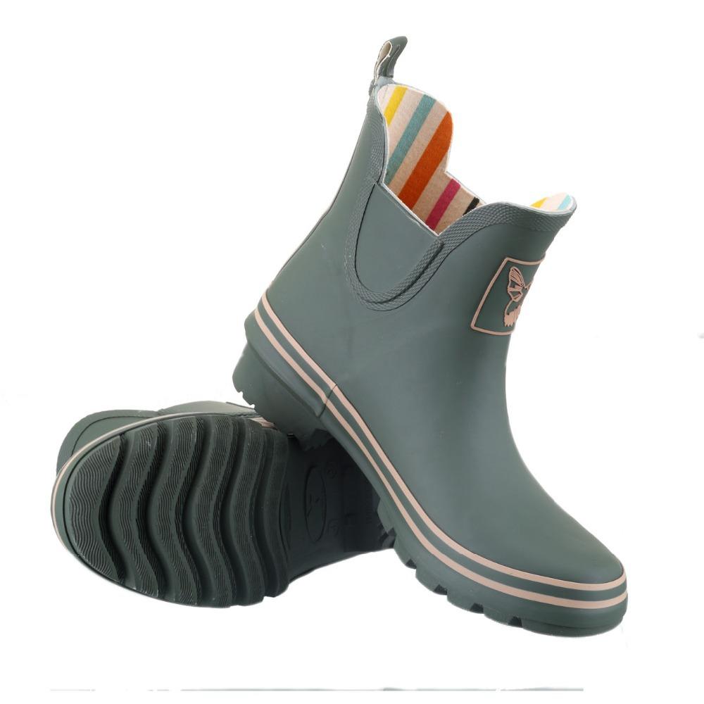 rubber ankle rain boots