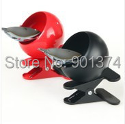 New Fashion Four Colors Stainless Steel Metal Clip Ashtray Creative Gift ,6pcs/lot,-free shipping(China (Mainland))