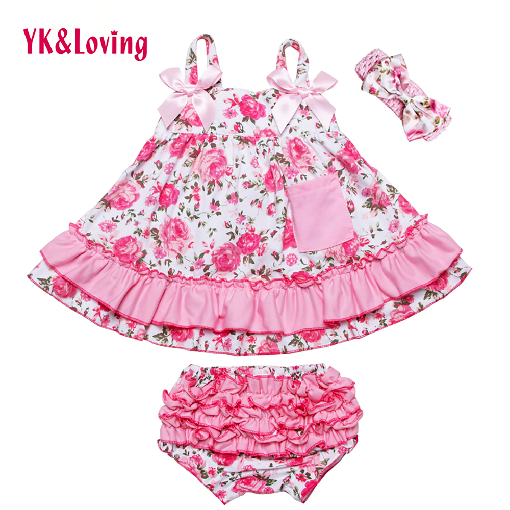 Baby Girl Ruffle Bloomers Sling Bat Shirt + Girls Camo Style Briefs Sets Infant Short Swing Top Lovely clothing 2017 New Style(China (Mainland))