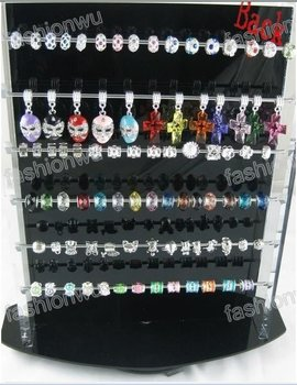show shelf Jewelry Beads Loose bead Charms black acrylic display rack 1PC sample Free shippment