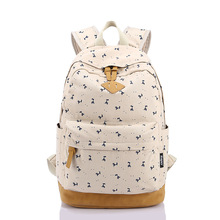 2015 New Fashion Macaron Large Lightweight Animal Print Canvas Laptop Backpack Cute Grils School Bags(China (Mainland))