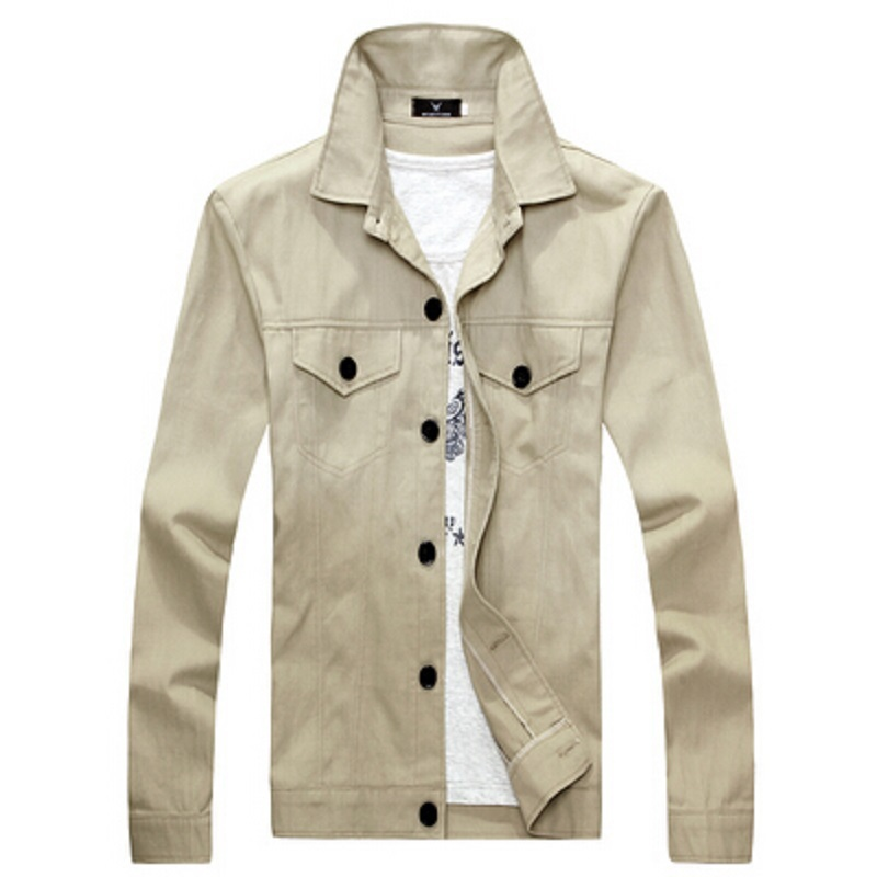 The new 2015 spring men jacket, solid color contracted joker coat Men's casual jacket to coat male of spring clothes(China (Mainland))