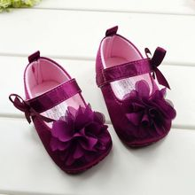 Toddler Kids Girls Cotton Blend Shoes Bowknot Flower Sole Walking Shoes
