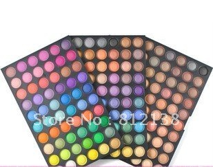 Wholesale free shipping ! Pro 180 Colour Shimmer matte Eyeshadow Eye shadow make up Palette 3 layer SP180