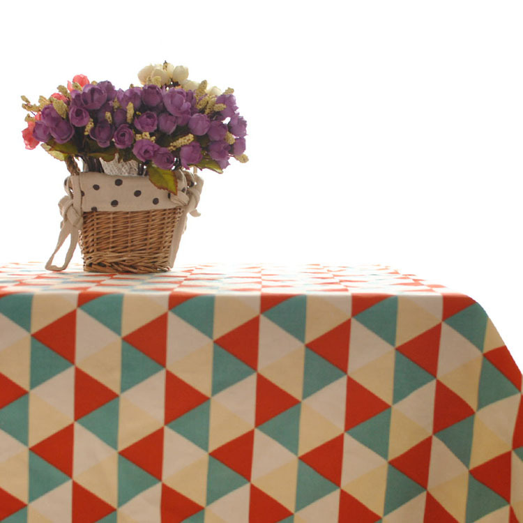 Korean plaid table cloth tablecloths home hotel cafe bar tablecloths wholesale cotton table cloth(China (Mainland))