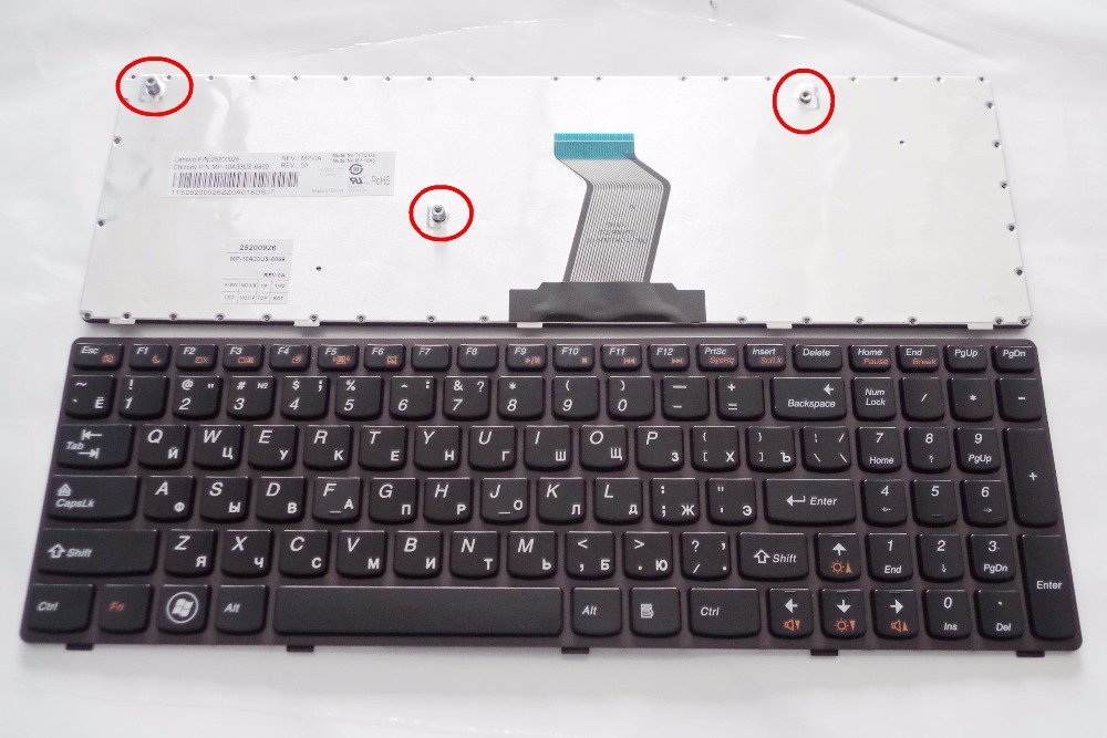 Russia 100 New Keyboard FOR LENOVO B570 Z565 Z560 Z570 Z575 V570A V570G B575 B590 RU
