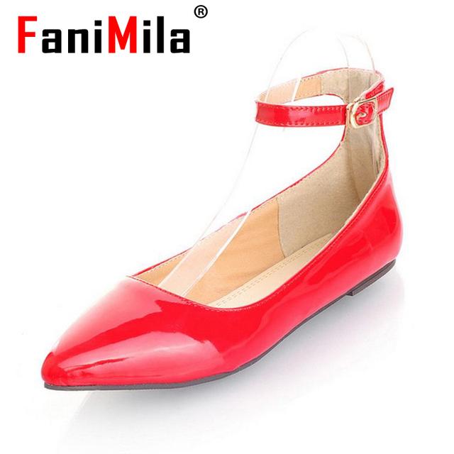 Размер 32-43 дамы досуг случайные квартиры обувь острым носом леди мокасины sexy ...